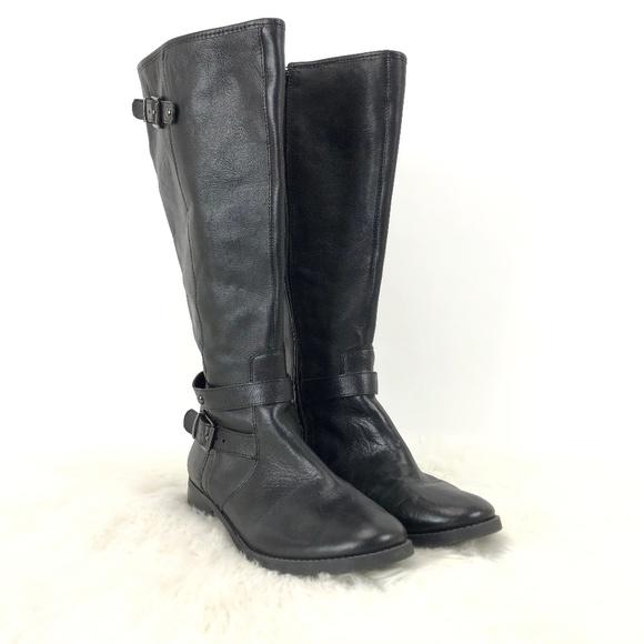 96c54d426d6 ☂️Arturo Chiang Black Leather Full-zip Heel Boots